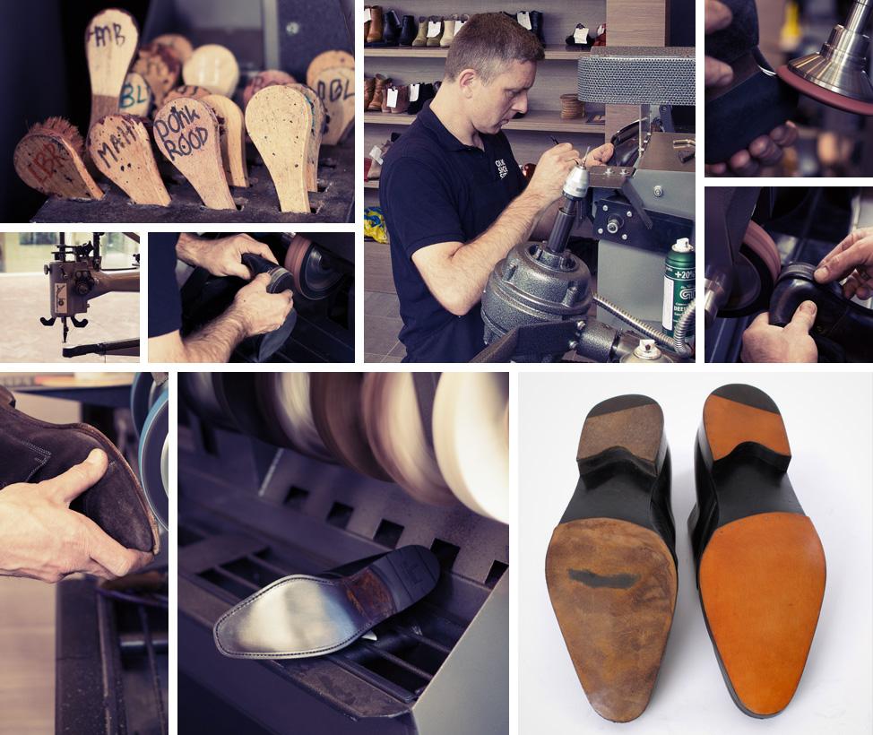 Oude schoenen weer als nieuw en vakmanschap